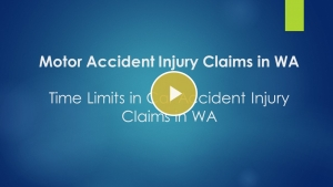 Time limits in car accident injury claims in WA